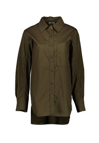 Kashieca green Long Sleeve Top 3576CAA3DECABAGS_1