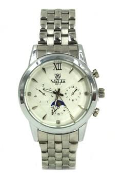 Valia Hayden Unisex White Stainless Steel Strap Watch 8221-2