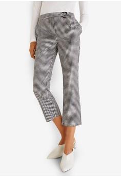 2aeae6e3ede Mango black Gingham Check Pattern Trousers 329A7AAF10A4B9GS 1