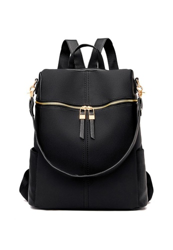 Lara black Women's Non-woven fabric Shoulder Bag Backpack - Black 43EA5AC154577BGS_1