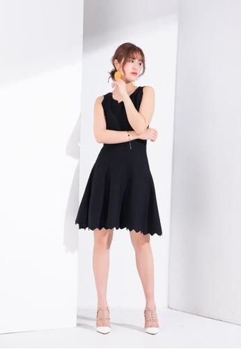 Zafiti black Sleeveless Knit A-line Dress A474AAA1F1A4B5GS_1