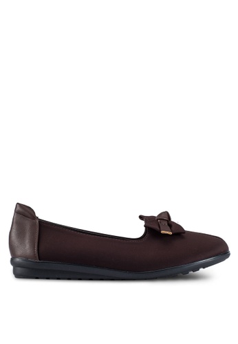 Louis Cuppers brown Flats with Bow Detail LO977SH0RX3XMY_1
