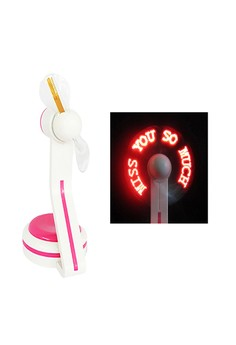 Programmable USB Fan With LED Luminous Message Display