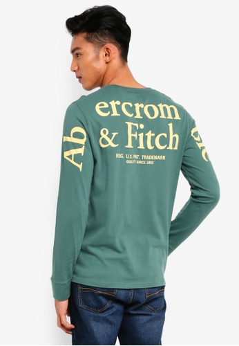 Abercrombie & Fitch green Long Sleeve Logo T-Shirt 4E5D4AA48B2AD2GS_1