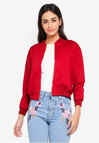 MKY Clothing red Drill With Lining Bomber Jacket 78AE2AA758D911GS_1