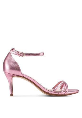 Mango pink Metallic Heel Sandals 689FDSH178B1D1GS_1