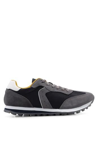 Mango Man navy Suede Applique Sneakers BD80FSHE9881A7GS_1