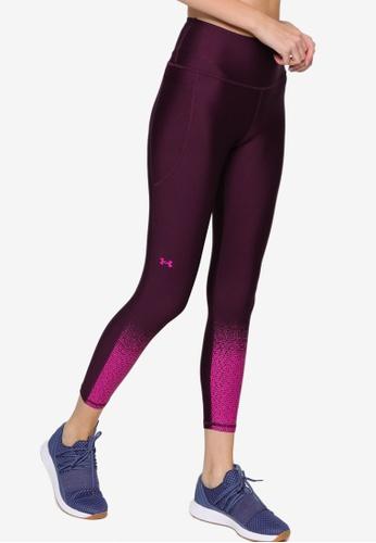 Under Armour purple HeatGear Armour Gradient 7/8 Leggings F046EAAD083393GS_1