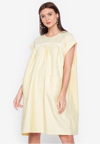Chictees yellow Carmi Baby Doll Dress A2238AA57F0E25GS_1