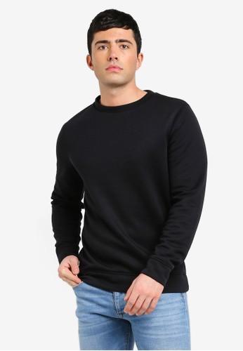 River Island black Black Basic Crew Sweater 0E991AA36C03C3GS_1