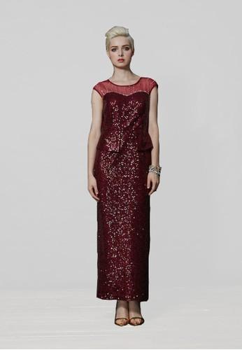 高級手工時尚貴氣全亮片zalora 心得晚宴禮服, 服飾, 長洋裝