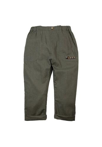 Vauva green Vauva Boys Train Linen Pants - Green A5F68KA05DAAF0GS_1