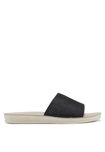 Noveni 黑色 Perforated Strap Sandal 55EF3SH15F9F1CGS_1