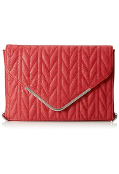 BCBGeneration Quinn The Quilted Higher Maintenance Clutch in Rouge