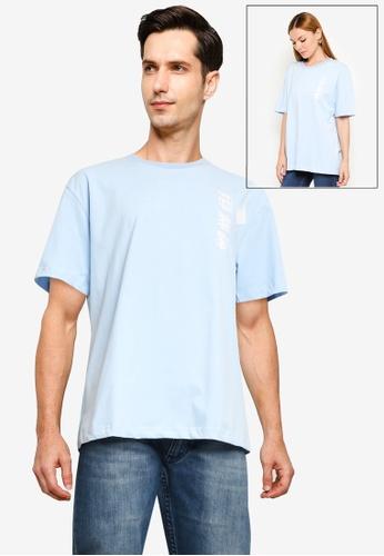 Fidelio blue Pastel Oversize Tee B121EAA6916D71GS_1