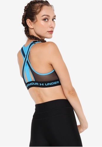 Under Armour blue Women's Mid Crossback Sports Bra CB29DUSF843D2CGS_1