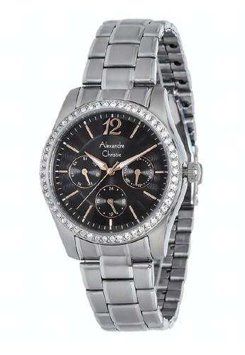 Alexandre Christie silver Alexandre Christie Jam Tangan Wanita - Silver Black - Stainless Steel - 2645 BFBSSBA  72DC7AC8D90E8AGS_1