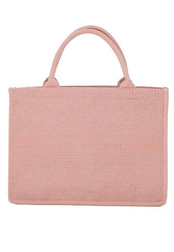SITI KHADIJAH pink Siti Khadijah Tote Bag Moorish Embroidery in Dusty Pink B95DEAC3926003GS_1