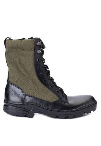 Caterpillar black and green BCAT-11 Boots CA367SH0IS6KPH_1