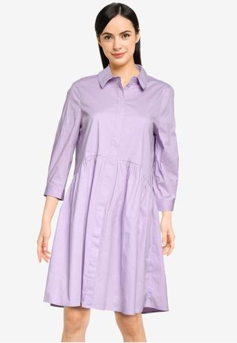 Vero Moda purple Maggie 3/4 Sleeves Dress 951F6AA7B8F3B9GS_1