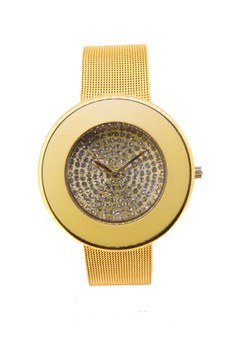 Japan Design Crystal Star Dial with Mesh Band Watch