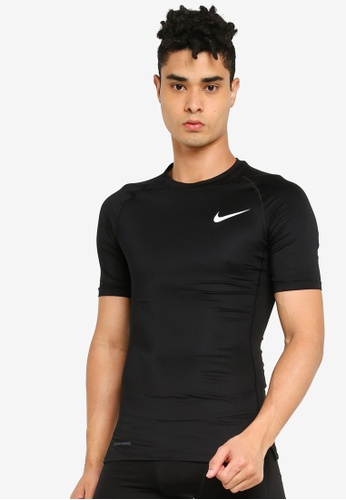 Nike black As M Np Top Ss Tight AF65EAA375FF49GS_1