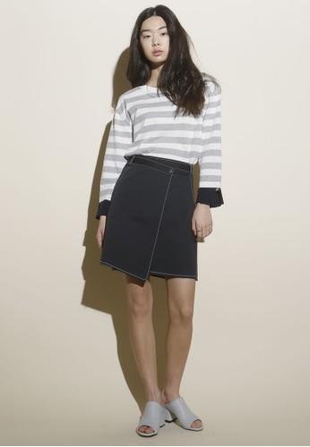 esprit 台中韓系時尚及膝裹飾牛仔短裙, 服飾, 裙子