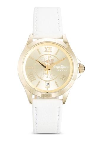 R23511esprit 台北14501 Katy 哈巴狗皮革女錶, 錶類, 飾品配件