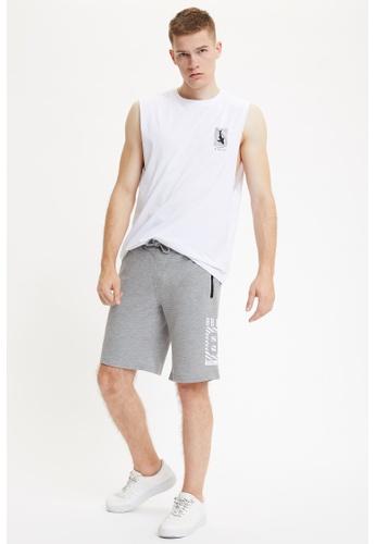 DeFacto grey Man Knitted Bottom Short 8DB6FAA7460DB2GS_1