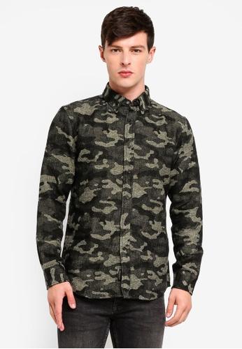 Banana Republic 綠色 Klove Camo Shirt Jacket 9E003AAFD2F463GS_1