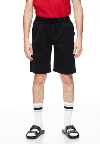 Life8 黑色 Casual Waterproof Zipper Japan Style Contrast Color Shorts-02490-Black 75D34AA8E7143AGS_1