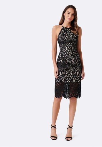 Forever New black Debbie Lace  Pencil Dress 8E361AA7E1B685GS_1
