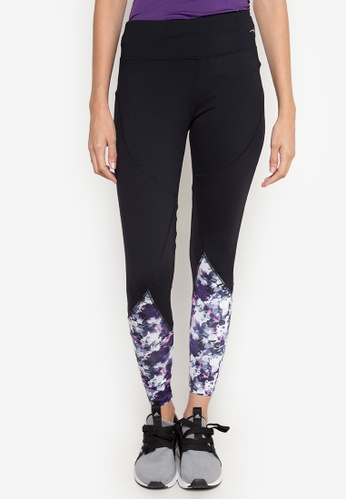 Sassa black Linear Floral Skin Fit Pants SA329AA25MIGPH_1