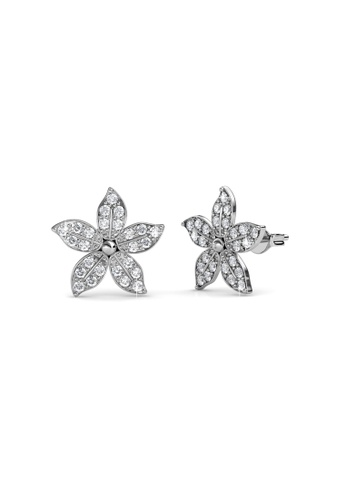 Her Jewellery silver Bloom Earrings - Crystals from Swarovski® E0D33AC0103EE8GS_1