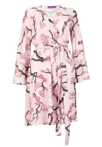 POPLOOK pink Nylsha Wrap Tunic CFEE5AA927CC28GS_1