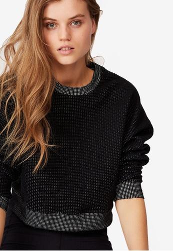 Cotton On Body black Jacquard Fleece Top EA07CAA5EA50BFGS_1