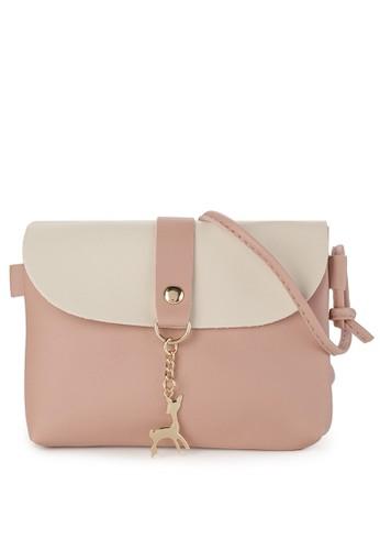 Synnove pink Mini Deer Sling Bag 6A94CAC2C9D6F5GS_1