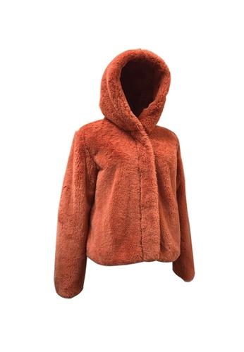 Universal Traveller pink Universal Traveller Luxury Furry Fleece Hoodie Jacket - FJW 9199 90657AA082D726GS_1