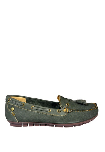 Hush Puppies green Grace Tassel Casual Shoes HU326SH0KTIQPH_1