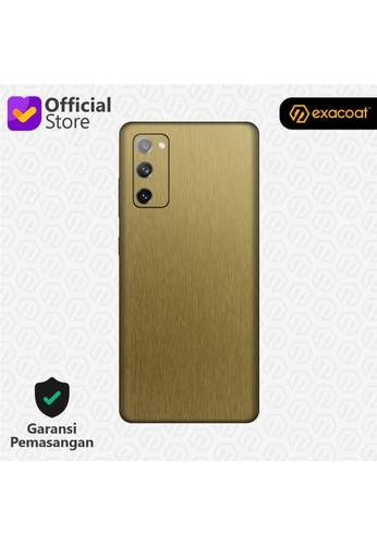 Exacoat Galaxy S20 FE Skins Titanium Series - Titanium Gold 9EDE9ESB948F33GS_1