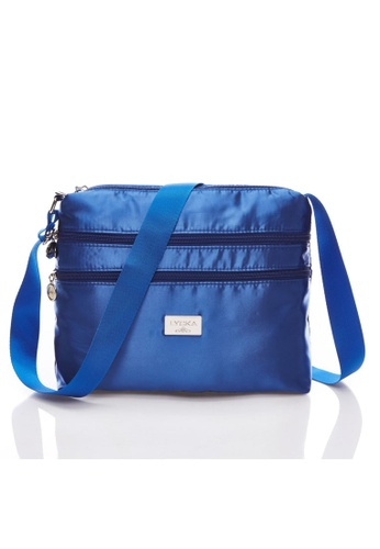 LYCKA black and blue LYCKA L021 Lady Handbag - Blue 96BD3ACA900A18GS_1