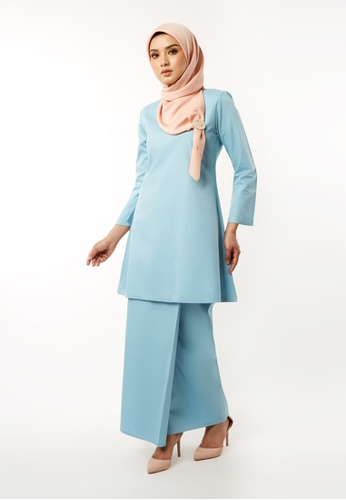 Basic Gulinear Kurung Riau Moden Baby Blue from Inhanna in Blue
