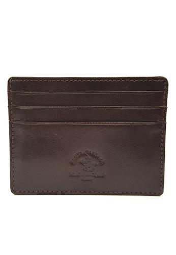 Santa Barbara Polo & Racquet Club brown Santa Barbara Luxurious Leather Card Holder SA678AC0GQ9ISG_1