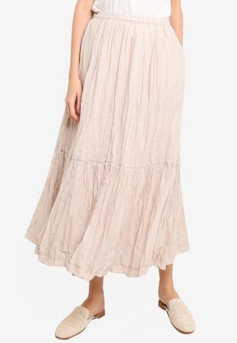 niko and ... brown Gathered Skirt 0C1F7AA86AB474GS_1