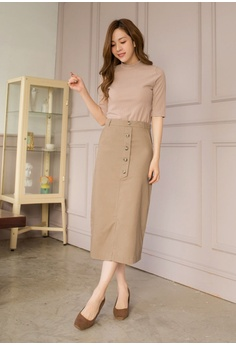 eb90875cc11 24% OFF Tokichoi Button Front Midi Pencil Skirt RM 149.00 NOW RM 113.90  Sizes S M L
