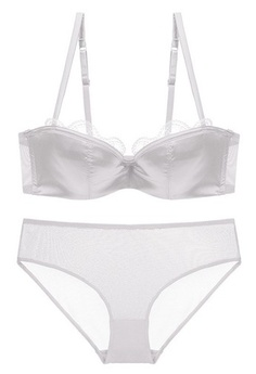 a2cb876a31 LYCKA. LYCKA-LMM1110- Lady Sexy Lace Bra and Panty Set-White