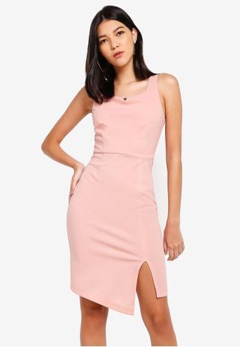 ZALORA pink Notched Neck Dress 54D91AAA108CBBGS_1