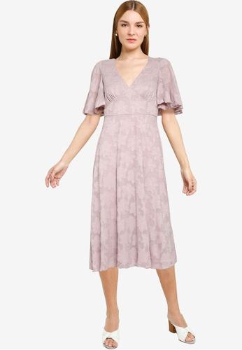 Little Mistress pink Mink Midi Tea Dress CB3D4AA4C9E76DGS_1