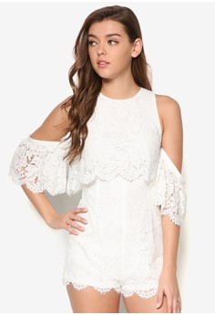 Overlay Lace Romper