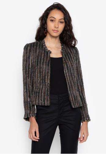 Fatima Beltran Clothing Line multi Tweed Blazer 6B539AA9787D93GS_1